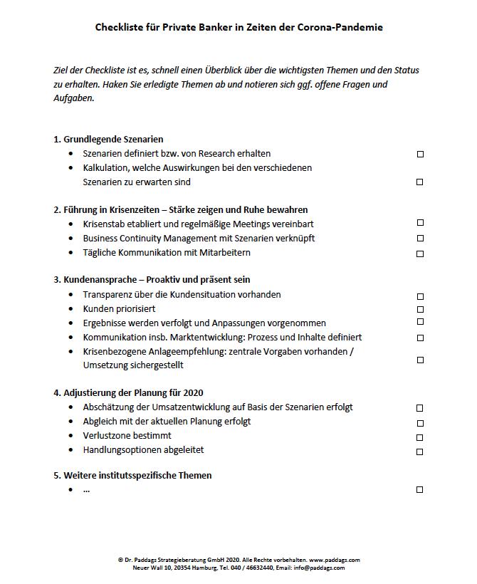 Checkliste Krisenmanagement